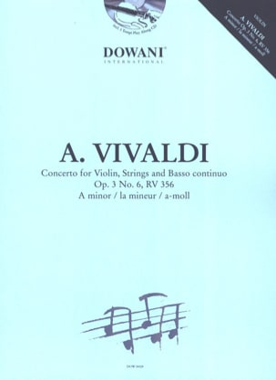 VIVALDI - Concerto Op.3 N ° 6 - Rv 356 In the Min. - Sheet Music - di-arezzo.co.uk