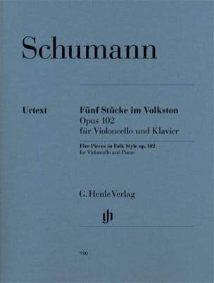SCHUMANN - 5 Pieces In Popular Style Op. 102 - Sheet Music - di-arezzo.co.uk