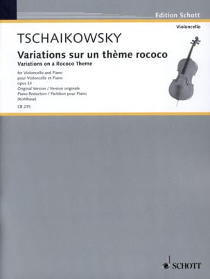 Piotr Tschaïkowsky - Variations Sur un Thème Rococo Op.33 - Partition - di-arezzo.fr
