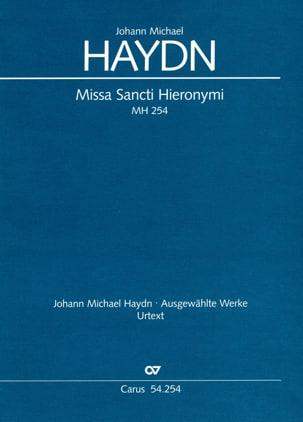 Missa Sancti Hieronymi Mh 254 Michael HAYDN Partition laflutedepan