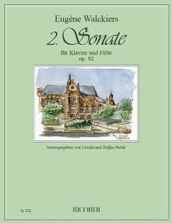 Eugene Walckiers - Sonate n° 2 Op. 92 - Flûte et piano - Partition - di-arezzo.fr