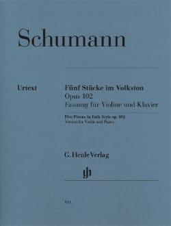 SCHUMANN - 5 Pièces Dans un Style Populaire Op.102 - Partition - di-arezzo.fr