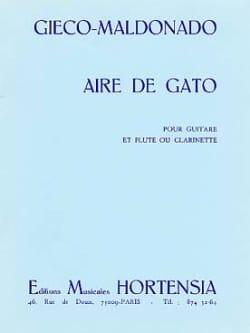 Gieco Maldonado - Aire de Gato - Partition - di-arezzo.fr