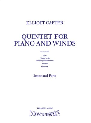 Elliott Carter - Oboe quartet - score & parts - Partition - di-arezzo.fr