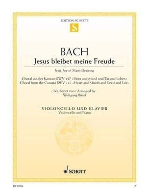 BACH - Jesus Bleibet Meine Freude - Violonchelo - Partitura - di-arezzo.es