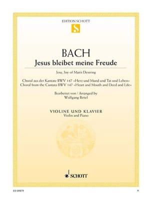 Johann Sebastian Bach - Jesus Bleibet Meine Freude - Violon - Partition - di-arezzo.fr
