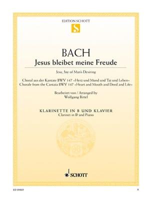 Johann Sebastian Bach - Jesus Bleibet Meine Freude - Clarinette - Partition - di-arezzo.fr