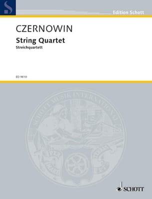 Chaya Czernowin - Quatuor A Cordes (1995) - Partition - di-arezzo.fr