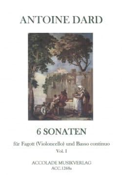 Antoine Dard - 6 Sonates, Volume 1 pour Basson (ou Violoncelle) et Bc - Partition - di-arezzo.fr
