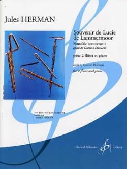 Jules Herman - Souvenir de Lucie de Lammermoor - Fantaisie Concertante - Partition - di-arezzo.fr