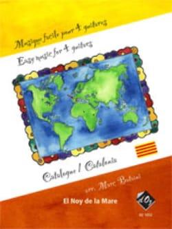 Musique Facile pour 4 Guitares : Catalogne Traditionnel laflutedepan