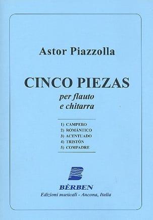 Astor Piazzolla - Cinco Piezas - Partition - di-arezzo.fr
