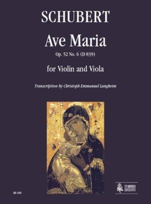 Franz Schubert - Ave Maria - Violon et Alto - Partition - di-arezzo.fr