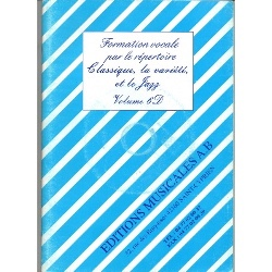 Formation Vocale Par le Répertoire Classique Variété Jazz Vol 6d - laflutedepan.com