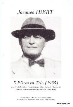 5 Pièces En Trio (1935) - Jacques Ibert - Partition - laflutedepan.com