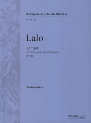 Edouard Lalo - Concerto in D Minor for Cello and Orchestra - Sheet Music - di-arezzo.com