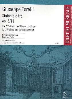 Giuseppe Torelli - Sinfonia To Tre Op.5 N ° 11 - Sheet Music - di-arezzo.com