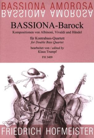 Albinoni Tomaso / Vivaldi Antonio / Haendel Georg Friedrich - Bassiona-Barock - Partition - di-arezzo.fr