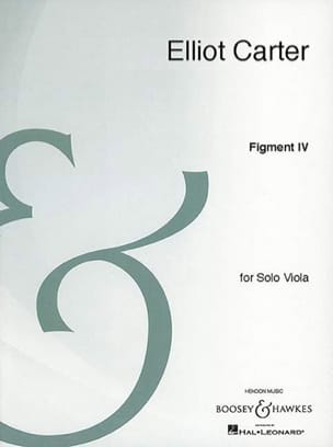Elliott Carter - Figment 4 - Partition - di-arezzo.fr