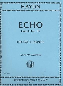 Echo Hob.2 N°39 - HAYDN - Partition - Clarinette - laflutedepan.com