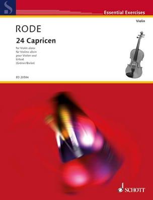 Pierre Rode - 24 Caprices en Forme d'Etudes dans les 24 Tons de la Gamme - Partition - di-arezzo.fr