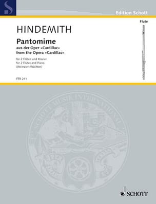 Paul Hindemith - Pantomime From The Opera Cardillac - Partition - di-arezzo.fr