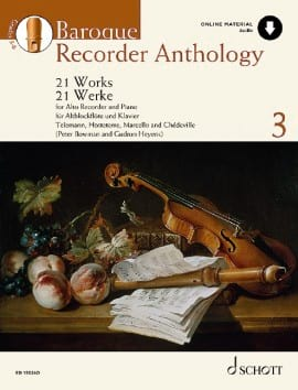 Baroque Recorder Anthology Volume 3 - Partition - di-arezzo.fr
