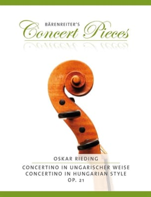 Oskar Rieding - Concertino In Hungarian Style Op.21 - Sheet Music - di-arezzo.co.uk