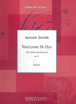 DVORAK - Notturno B Major, Op. 40 - Partition - di-arezzo.fr