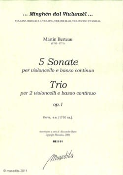 Martin Berteau - 5 Sonatas and a Trio - Sheet Music - di-arezzo.com
