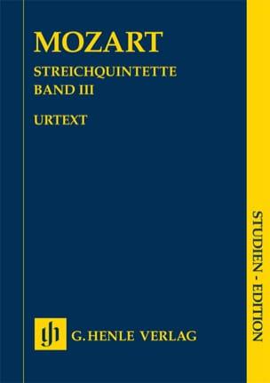 Quintettes à cordes, volume 3 - MOZART - Partition - laflutedepan.com