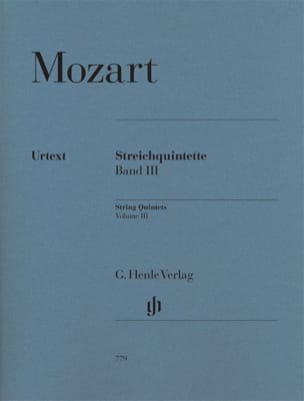 MOZART - String Quintets, Volume 3 - Sheet Music - di-arezzo.co.uk
