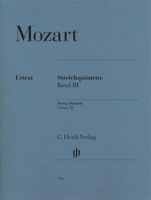 MOZART - String Quintets, Volume 3 - Partition - di-arezzo.co.uk