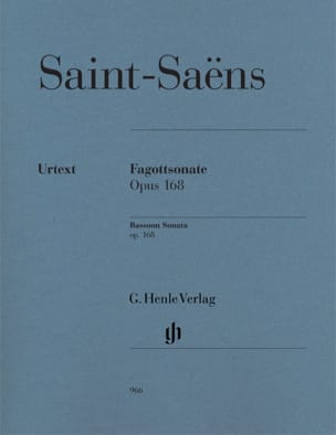 Sonate pour Basson op. 168 SAINT-SAËNS Partition Basson - laflutedepan
