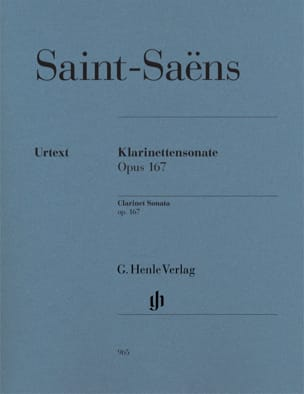 Camille Saint-Saens - Sonata for Clarinet op. 167 - Sheet Music - di-arezzo.com