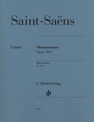 Camille Saint-Saëns - Sonata for Oboe Op. 166 - Sheet Music - di-arezzo.co.uk