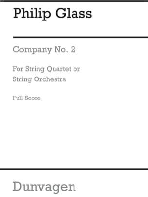 Philip Glass - String Quartet N° 2 Company - Score - Partition - di-arezzo.fr