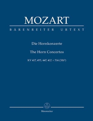 MOZART - Concertos for Horn and Orchestra - Sheet Music - di-arezzo.co.uk