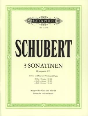 3 Sonatines Opus Posth.137 SCHUBERT Partition Alto - laflutedepan