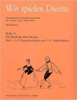 Lutz - Wir Spielen Duette Vol 1 - Sheet Music - di-arezzo.com