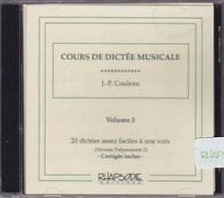 Jean-Pierre Couleau - CD - Musical Dictation Course - Volume 3 - Sheet Music - di-arezzo.com