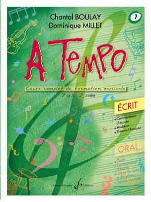 Chantal BOULAY et Dominique MILLET - A Tempo Volume 7 - Ecrit - Sheet Music - di-arezzo.co.uk