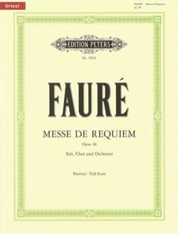 Messe de Requiem D-Moll Op. 48 Urtext FAURÉ Partition laflutedepan