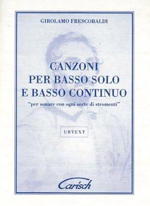 Girolamo Frescobaldi - Canzoni Per Basso Solo E Basso Continuo - Sheet Music - di-arezzo.com