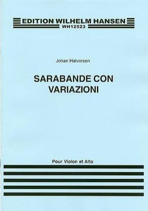 Johan Halvorsen - Sarabande Con Variazioni - Partition - di-arezzo.co.uk