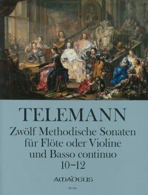 12 Methodische Sonaten Für Flöte Und Bc Band 4 TELEMANN laflutedepan