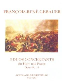 François-René Gebauer - 3 Duos Concertants Op. 48 N ° 1-3 - Sheet Music - di-arezzo.com