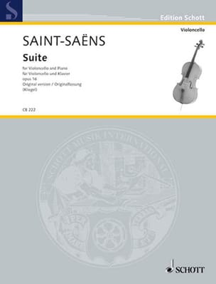 Camille Saint-Saens - Suite Opus 16 - Version Originale - Partition - di-arezzo.fr