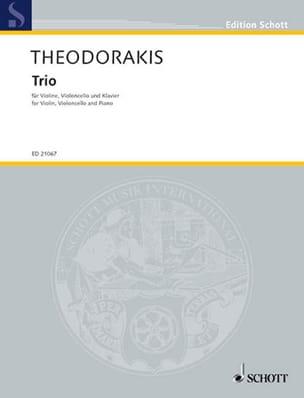 Mikis Theodorakis - Trio 1947 - Partition - di-arezzo.fr