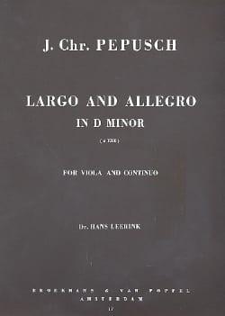 Johann Christoph Pepusch - Largo and Allegro In Re Min. - Sheet Music - di-arezzo.co.uk